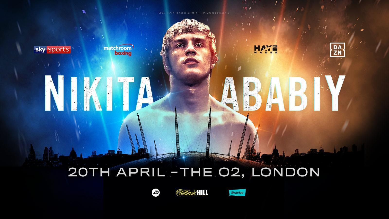 Shiv Naresh Teens Boxing Gloves 12oz: NIKITA ABABIY TO MAKE UK DEBUT AT THE O2
