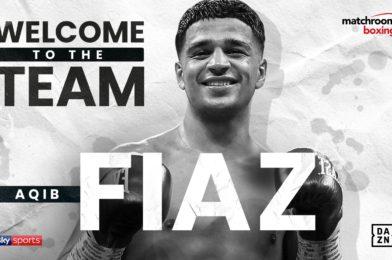 Aqib Fiaz signs with Matchroom Boxing