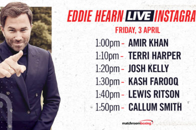 EDDIE HEARN CATCHES UP WITH UK STABLE PLUS AMIR KHAN ON INSTAGRAM LIVE TODAY