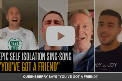 YOU'VE GOT A FRIEND! Fury, Frampton and Frank encourage people to #KeepTalking throughout Lockdown