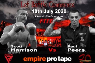 UK BOXING RETURNS 18TH JULY – HARRISON VS PEERS HEADLINES FIRST EVENT LIVE ON FITE TV