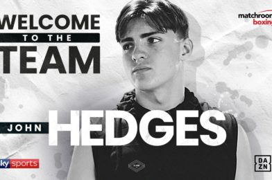 JOHN HEDGES SIGNS WITH MATCHROOM BOXING