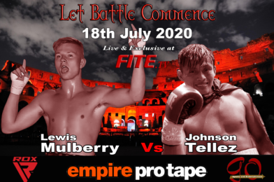 Mulberry vs Tellez Added to Harrison vs Peers Undercard 18th July – Exclusively Live on FITE.TV.