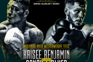 MIDLANDS AREA WELTERWEIGHT TITLE SHOWDOWN BETWEEN BENJAMIN AND WALKER ADDED TO PITTERS V SUGDEN BRITISH TITLE CLASH