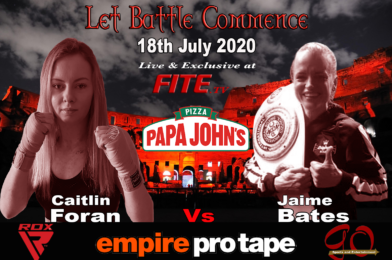 Mackenzie Injured, Bates Steps up to the Plate and Faces Foran on Saturday Live on FITE TV.