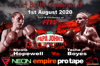 Nicola Hopewell Vs Tasha Boyes Features on Aberdeen Event This Saturday Live on FITE TV