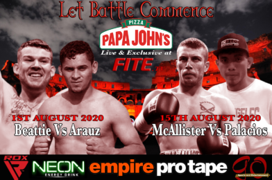TWO BOXING EVENTS LIVE FROM SCOTLAND SCHEDULED ON FITE TV FOR AUGUST