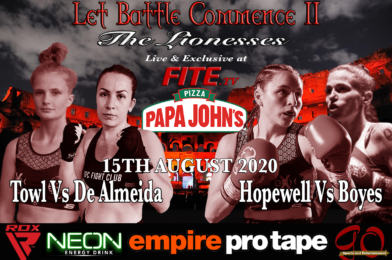 Two Sensational Female Fights Feature on LET BATTLE COMMENCE II Live on FITE TV August 15th