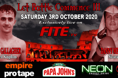 Gallagher Vs Mendoza Headlines LET BATTLE COMMENCE III Live on FITE TV on 3rd October