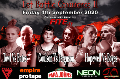 Three Sensational Female Fights on LET BATTLE COMMENCE II Live on FITE TV Friday 4th Sept