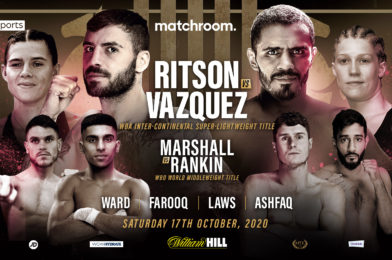 RITSON-VAZQUEZ CONFIRMED FOR OCTOBER 17
