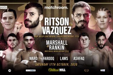 RITSON-VAZQUEZ CONFIRMED FOR OCTOBER 17