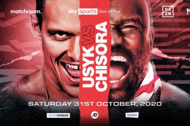 USYK-CHISORA CONFIRMED FOR OCTOBER 31