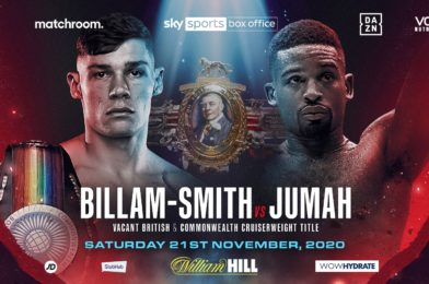 BILLAM-SMITH MEETS JUMAH FOR BRITISH TITLE