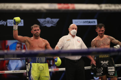 SAUNDERS RETAINS WBO 168LBS WORLD TITLE WITH DOMINANT POINTS WIN OVER MURRAY