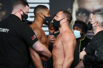 JOSHUA VS. PULEV WEIGHTS AND RUNNING ORDER