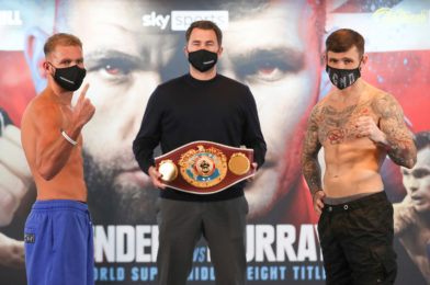 SAUNDERS VS. MURRAY WEIGHTS AND RUNNING ORDER