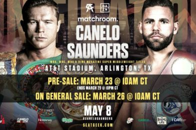 CANELO VS. SAUNDERS LANDS AT AT&T STADIUM