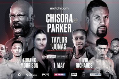 CHISORA AND PARKER COLLIDE ON BLOCKBUSTER MAY 1 CARD