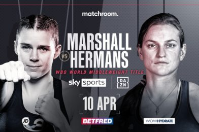 MARSHALL FACES HERMANS IN MAIDEN WBO MIDDLEWEIGHT WORLD TITLE DEFENCE