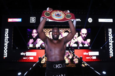 OKOLIE STOPS GLOWACKI IN SIX TO WIN WBO CRUISERWEIGHT WORLD TITLE