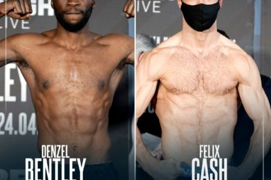 BENTLEY vs CASH WEIGH-IN OFFICIAL RESULTS