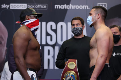 CHISORA VS. PARKER WEIGHTS AND RUNNING ORDER