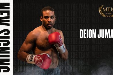 MTK Global signs unbeaten cruiserweight Deion Jumah