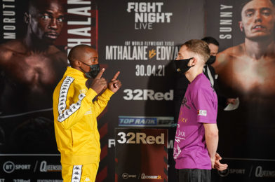 MTHALANE vs EDWARDS OFFICIAL WEIGH-IN RESULTS