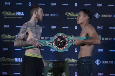EGGINGTON-MOLINA WEIGH-IN RESULTS AND RUNNING ORDER