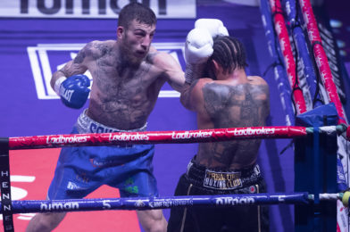 EGGINGTON GUNNING TO KO MOLINA AND DELIVER A STATEMENT TO 160 POUND DIVISION