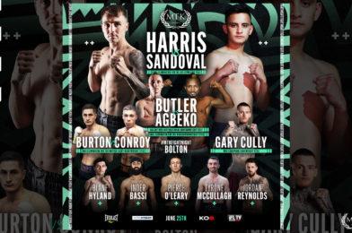 Harris Vs Sandoval Headlines MTK Fight Night June 25