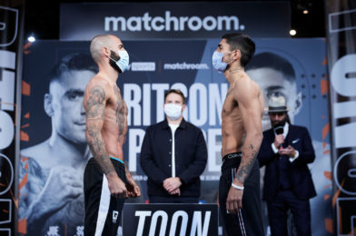 RITSON VS. PONCE WEIGHTS AND RUNNING ORDER