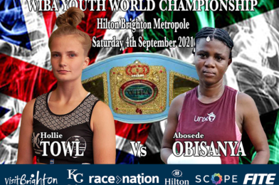 Teen Sensation Hollie Towl Challenges For WIBA Youth World Championship Honours Sept 4th.