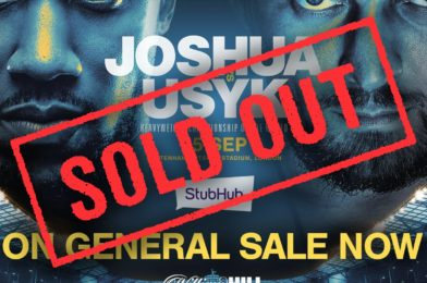 JOSHUA VS. USYK TICKETS SELL OUT WITHIN 24 HOURS