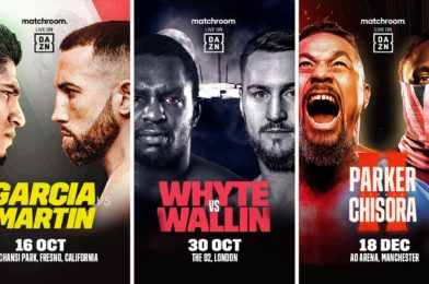 DAZN and Matchroom announce more global additions to growing fall fight schedule