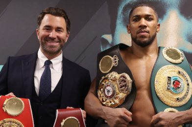 ANTHONY JOSHUA AND MATCHROOM SIGN NEW CAREER-LONG PROMOTIONAL DEAL