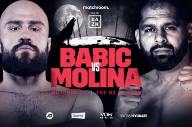 BABIC COLLIDES WITH MOLINA AT THE O2