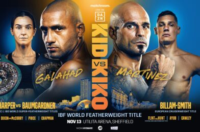 GALAHAD AND HARPER TOP NOVEMBER 13 WORLD TITLE DOUBLE-HEADER IN SHEFFIELD