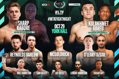 Pierce O'Leary faces Siar Ozgul on this month's MTK Fight Night